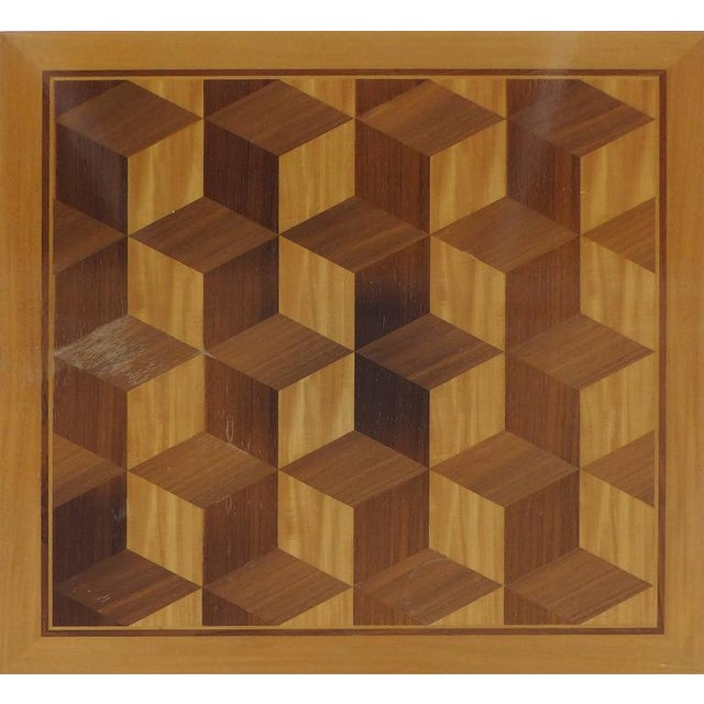 Baker Furniture Company Mid-Century Baker Inlaid Geometric Design Side Table For Sale - Image 4 of 10