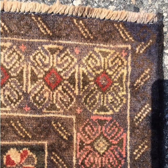 "Vintage Baluchi Persian Rug - 2'10"" x 4'1"" - Image 7 of 11"