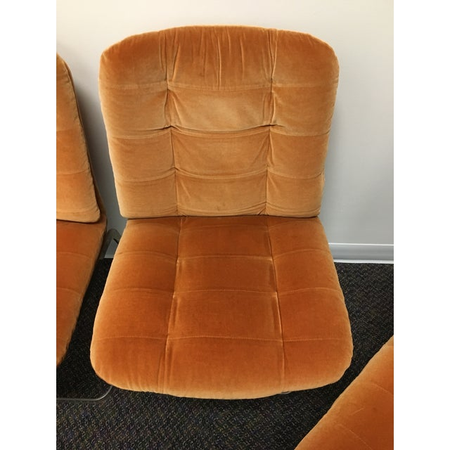 Roche Bobois 1970s Vintage Roche-Bobois Cantilevered Chairs- Set of 4 For Sale - Image 4 of 12