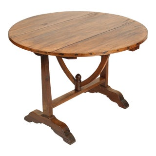 19th Century French Country Wine Table For Sale