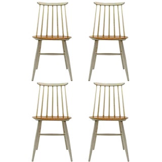 1950s Vintage Ilmari Tapiovaara Dining Chairs- Set of 4 For Sale