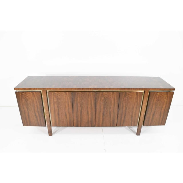 Widdicomb Credenza or Sideboard in Walnut With Parquet Patterned Top For Sale In Dallas - Image 6 of 13