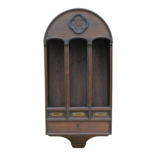 Antique French Gothic Offertory Box Prayer Candle Holder For Sale