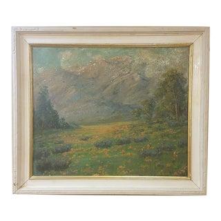 James Merriam California Wild Flowers Landscape Painting For Sale