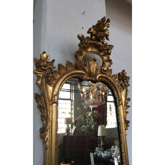 Italian Rococo Gilt Tall Mirror by La Barge - Image 5 of 10