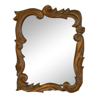 Gilt Plaster Mirror in the Style of Serge Roche For Sale