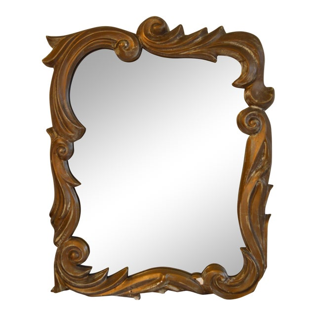Gilt Plaster Mirror in the Style of Serge Roche - Image 1 of 8