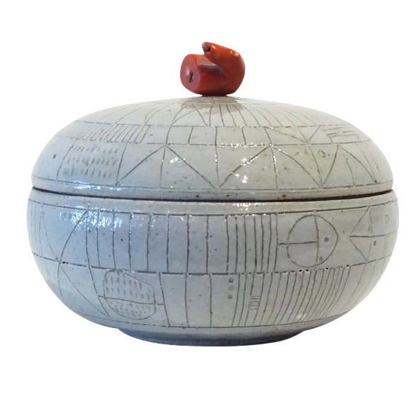 Scribed Lidded Box by Heather Rosenman For Sale