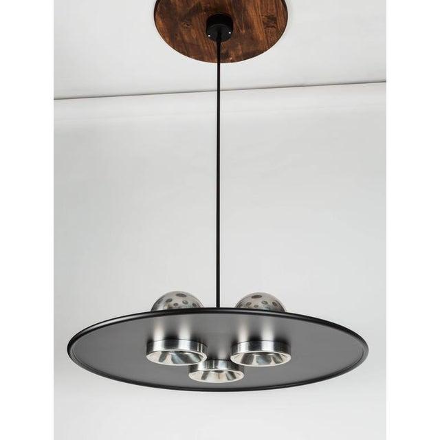 Silver Large Ettore Sottsass 'Lampros 3' Chandelier for Stilnovo C. 1970 For Sale - Image 8 of 9