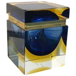 Mandruzzato Designed Jewelry Box Murano Glass For Sale
