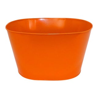 Orange Basin Storage Pail Laundry Hamper Basket For Sale