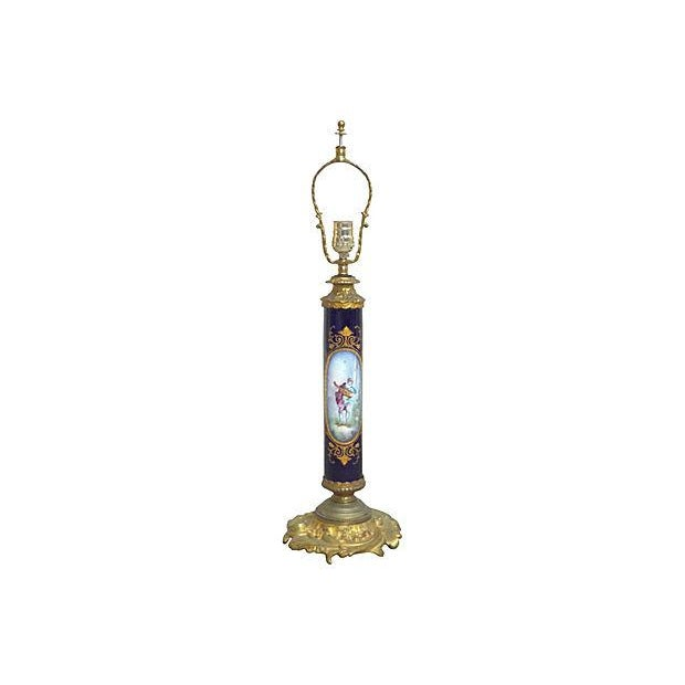 Manufacture de Sevres Antique Porcelain Sèvres Lamp For Sale - Image 4 of 9