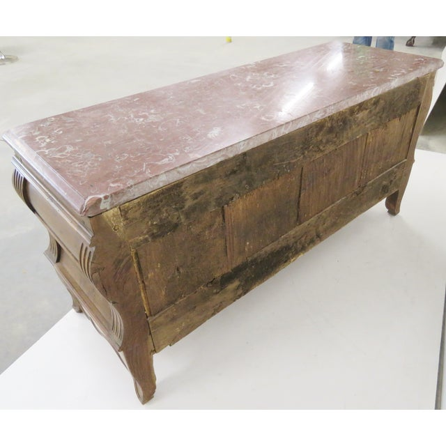 Antique Custom Carved French Marbletop Commode - Image 6 of 6