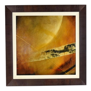 """""""parallax"""" Abstract Original Mixed Media Oil Painting Signed by Sebastian Alterera For Sale"""