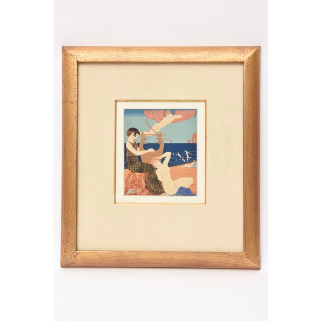 This lovely art deco sensual pochoir executed by the french illustrator; Goerge Barbier is from the portfolio; Chansons de...