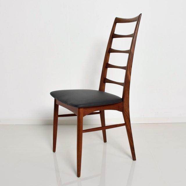 Koefoeds Hornslet Set of 4 Danish Modern Teak Ladder Back Niels Koefoeds Dining Chairs Hornslet For Sale - Image 4 of 11