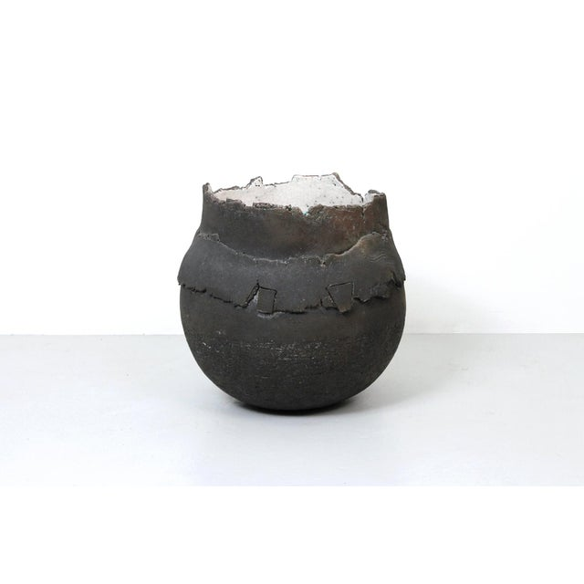 Large Raku Vessel by Dieter Balzer For Sale - Image 11 of 11
