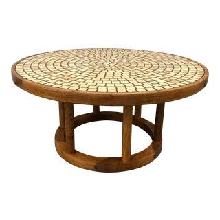 Gordon & Jane Martz for Marshall Studios Round Tile Top Coffee Table