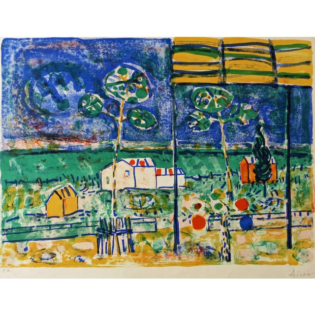 St. Tropez Lithograph by Paul Aizpiri - Image 1 of 5