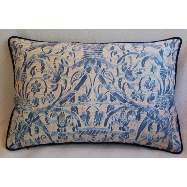 Italian Fortuny Uccelli Down Pillows - A Pair - Image 5 of 11