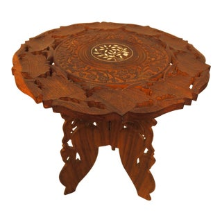 Vintage Hand Carved Accent Table