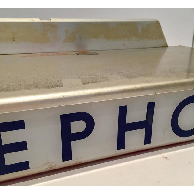 1930s Western Electrical Co. Telephone Booth Light Box Sign - Image 7 of 9