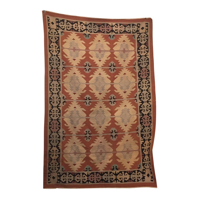 Neutral Tone Kilim Rug - 5′5″ × 8′ - Image 1 of 7