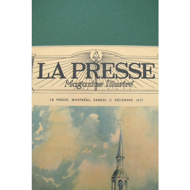 Antique Art Deco Notre Dame Cathedral Poster - Image 6 of 6