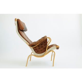 1970s Vintage Leather Pernilla Chair by Bruno Mathsson Preview
