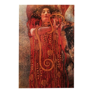 "1994 Gustav Klimt ""Hygieia"" First German Edition Large Poster For Sale"