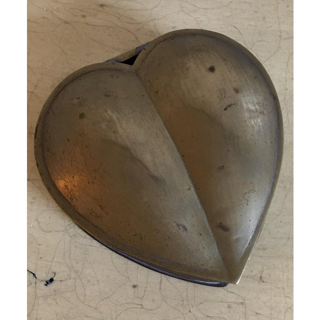 Brass Heart Vintage Jewelry Box - Image 4 of 7