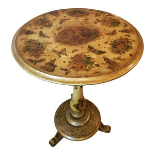 Victorian Handpainted Distressed & Worn Side Table For Sale