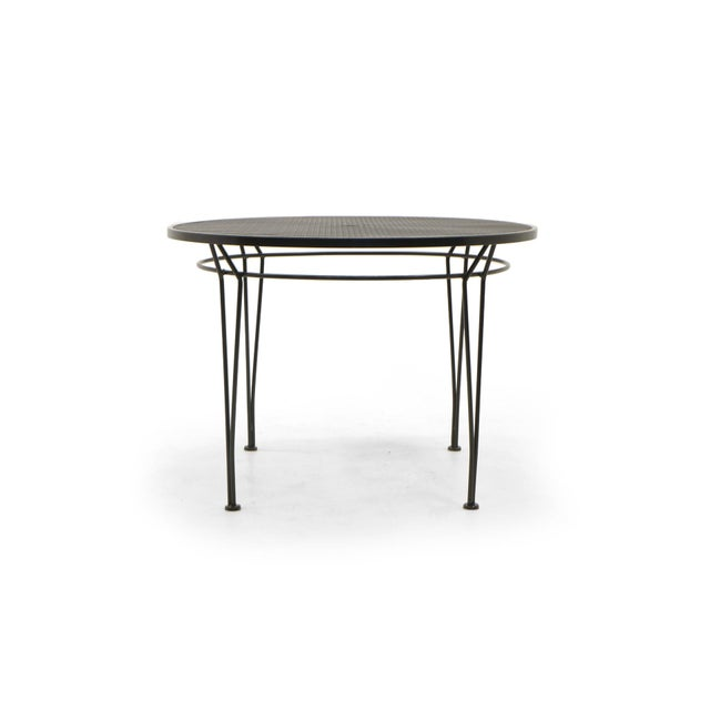 Patio / Pool / Outdoor dining table by Russel Woodard for Woodard. Professionally media blasted and powder coated in a...
