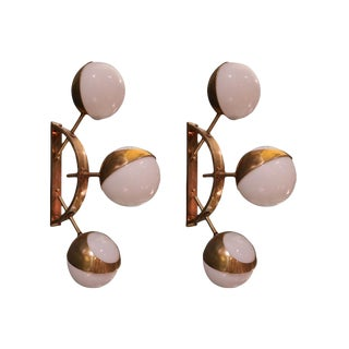 A Pair of Sconces in the style of Stilnovo, Italy 1980