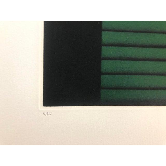 "Kazuhisa Honda Mezzontint ""Two Leaves"" 1980s For Sale - Image 4 of 6"
