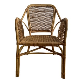 1960s Vintage Rattan Chair For Sale