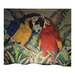 Original Birds Oil Painting by Lee Reynolds