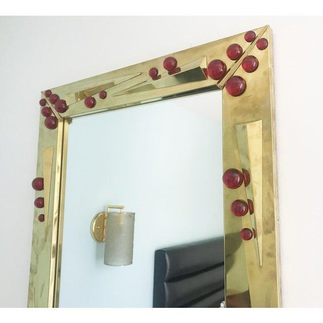 Fabio Ltd Rubino Brass Mirror by Fabio Ltd For Sale - Image 4 of 10