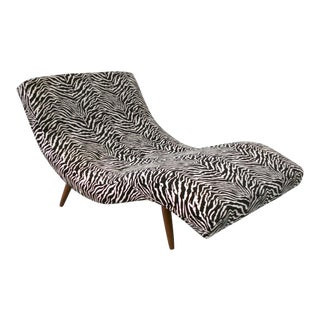 Fresh Restoration of S Curved Partners Chaise Lounge by Adrian Pearsall For Sale