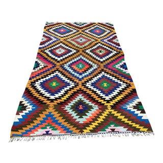 Zigzag Turkish Kilim Rug