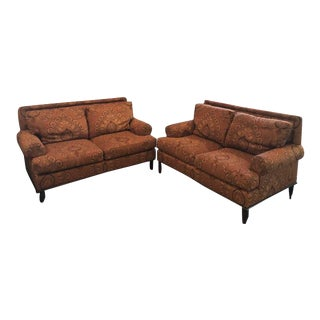 Modern Kravet Elegant and Traditional Pattern Sofas- A Pair For Sale