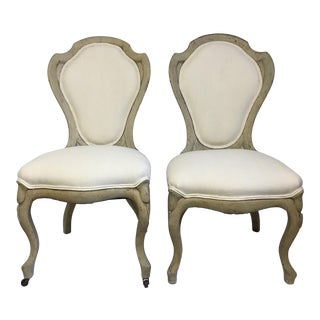 Late 19th Century Swedish Biedermeier Wood Back Chairs- A Pair For Sale