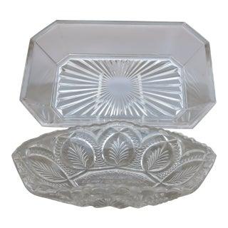 Vintage American Glass Bowls - Set of 2 For Sale