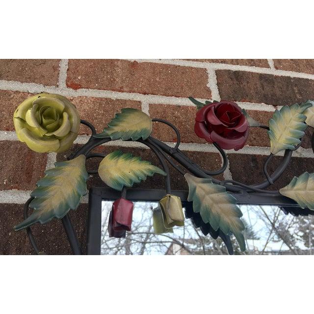 Bronze Framed Rose & Vine Mirror - Image 5 of 10