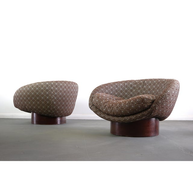 Design lovers, these are where it's at! A pair of vintage 1960s barrel chairs designed by Adrian Pearsall for Craft...