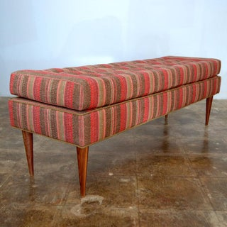 Burnt Orange August Tufted Bench Preview