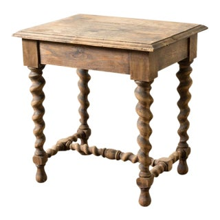 Late 19th Century Antique French Twist Leg Table For Sale