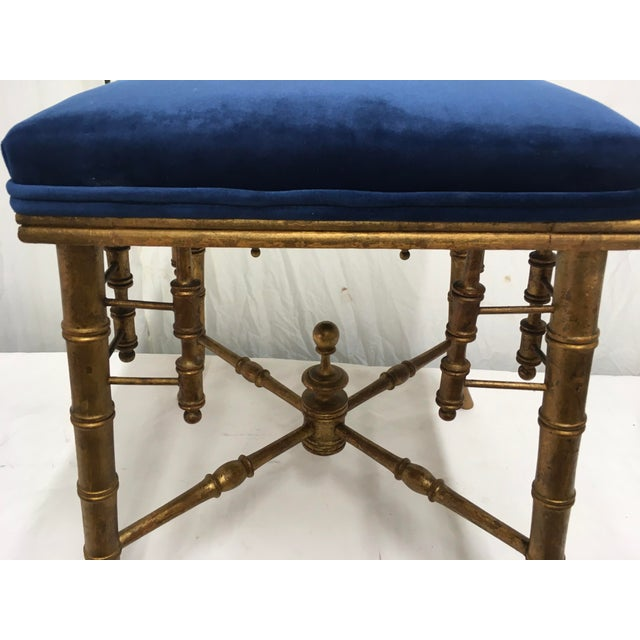 Antique Faux Bamboo Stool For Sale - Image 9 of 11