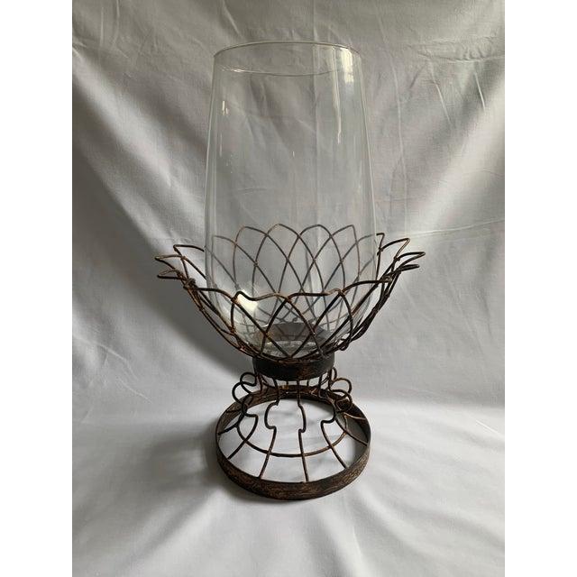 Aidan Gray Hurricane Candleholder For Sale - Image 4 of 4