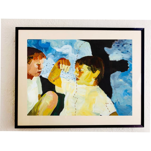 Susan Durfee Thulin 'Growing Boys' Large Framed Painting For Sale - Image 13 of 13